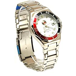 Saatchi Gents Silver Tone Bracelet Strap Calendar Dress Watch G0127
