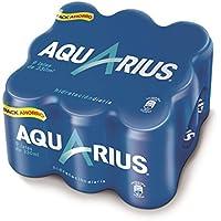 Aquarius - Bebida Refrescante Aromatizada Limón - Paquete de 9 x 330 ml - Total: 2970 ml