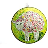 Handbemalte Deko aus CD: Schaf
