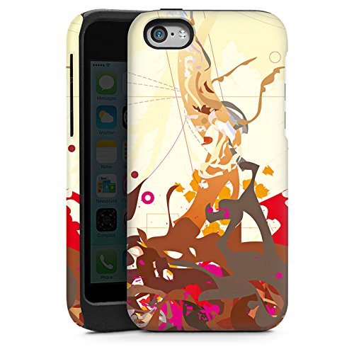 Apple iPhone 4 Housse Étui Silicone Coque Protection Motif Motif couleurs Cas Tough brillant