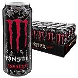 Monster Energy Flavour Assault mit kräftigem Kirsch-Geschmack/Energy Drink Palette mit 24 x 500ml Dosen im Camouflage Design