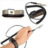 WISEUK 1 PC Esd-Elektriker für kreatives nützliches PU-antistatisches Armband Esd-Trageschlaufe Schwarzes Metall-Entladungs-Schnurdraht Klipp Elektriker-antistatisches Armband