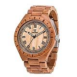 Uwood Slim legno di acero orologio con nylon Banda Lady legno orologio
