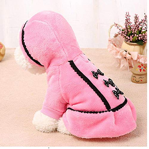 Onsinic 1Pcs Rosa XXS intelligenter Graceful Hundemantel Jacke Pet Supplies Kleidung Winter-Kleid-Welpen-Kostüm Hunde-Bekleidung für kleine Hunde