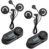 Freedconn TCOM-SC Moto Intercom Oreillette Bluetooth Casque de Moto Interphone...
