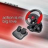 """Esperanza EG103 """"HIGH OCTANE"""" Gaming Lenkrad, Gas/Bremspedal für Playstation 2/3 und PC mit Vibration/13 Action-Tasten schwarz - 5"""