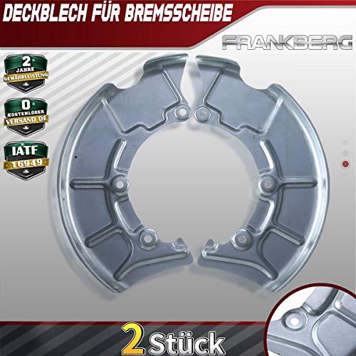 2x Deckblech Spritzblech Ankerblech Bremsscheibe Vorne für A3 8L Bora Golf 4 IV 1J 1996-2010 1J0615311A