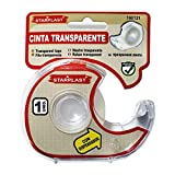 160121- Set de 6 Cintas adhesiva transparente con dispensador (Brillo)