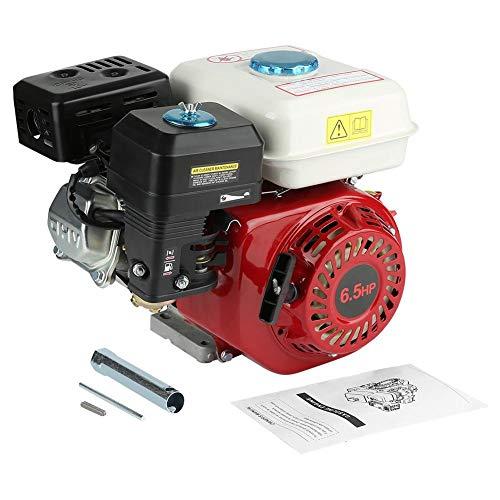 6,5 PS / 4,8 KW Benzinmotor 4-Takt-Benzinmotor 168F OHV Einzylinder-Benzinmotor mit manuellem Starter, 35 x 32 x 26 cm - 6-ps-motor