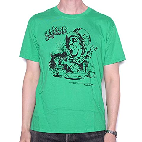 Genesis T Shirt - Green Mad Hatter Charisma Design 100% Official