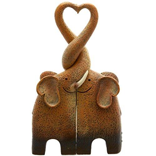 Jones Home & Gift Adorno de Elefante, de Resina, Familiar