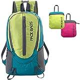 PACK BAGS Faltbarer Rucksack 20 Liter (Daypack, Farbe wählbar) für Einkauf, Reisen, Wandern, Camping | Robust & Ultraleicht (250 g) | Perfekt als Handgepäck für extra Stauraum | Damen, Kinder, Herren