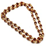 Moneekar Jewels Gold-Plated Rudraksha Mala Made up of Beads with Attractive Look for Men
