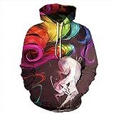 WEII Pullover Hoodie Paar Pullover 3D Digital Print Hoodie Pullover -