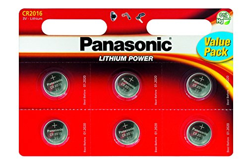 Panasonic CR2016 Knopfzelle (Panasonic Cr2016 3v)