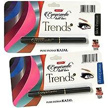 COMBO - K-Veda Eyeyurvedic Kohl Liner Trendz Black Shimmer + Alluring Azure, Pure Indian Kajal