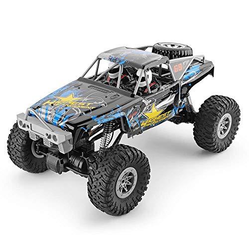 Wapipey 2,4G RC Geländewagen-Bergsteigen-Auto 1/10 4WD doppeltes Brücken-Raupen-RC-Auto 40 Minis unter Verwendung mit Übermittler-Ladegerät-Spielwaren für Kindergeschenk