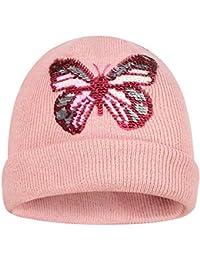 AHAHA Ragazze Cappelli Invernali Cappelli Lavorati a Maglia per Ragazze  Beanie Hat con Sequin Sattern bedf4fbf9820