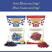 Wonderland Dried Sliced Cranberries 200 g & Blueberries 150 g (Low-Sugar)