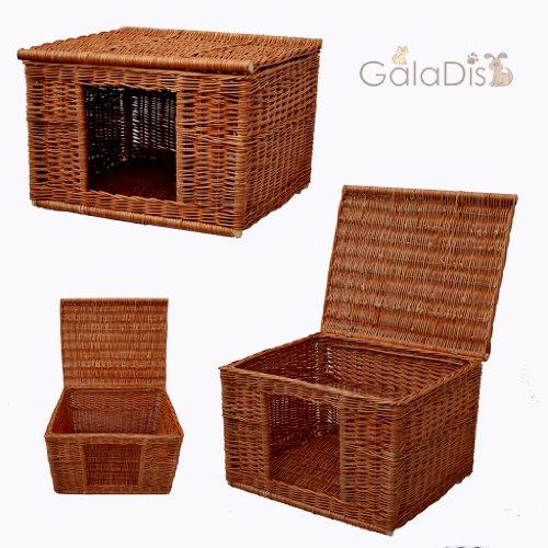 GalaDis 1-19 Katzenhaus (60 x 50 x 40 cm) Katzenkorb/Katzenbett/Hundehütte für kleine Hunde/Katzen-Wurfbox/Wurfkiste -