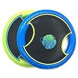 CUHAWUDBA Trampolin Super Disc F Risbee Bounce Spiel mit Gummi Band Bouncy Ball (2 SCHL?Ger und 1...