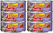 Purina Friskies Prime Filets Turkey Dinner in Gravy Adult Wet Cat Food, Purple, 5.5 oz. (6 Cans)