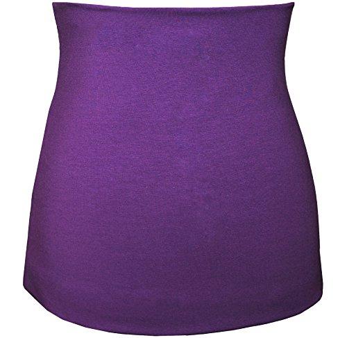 Belldessa 3 in 1: Jersey - Nierenwärmer / Shirt Verlängerer / modisches Accessoire - lila violett Frau XXXL