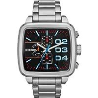 Reloj Diesel DZ4301 de hombre con pulsera de plata Square Franchise Chrono