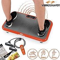 Mediashop VibroShaper – Fitness Vibrationsplatte bringt den Körper in Form – Vibrationstrainer für unterschiedliche Muskelgruppen – inklusive Fitnessbänder