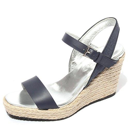Hogan B0628 Sandalo Donna Scarpa Zeppa Blu Chiaro Shoes Women [36.5]