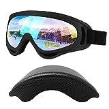 LUFF Ski Goggles, Ski Glasses, Anti-Fog, Anti-UV, Anti-Collision, 180°Large Wide-Angle Spherical Lens, Suitable for Men/Women Skiing