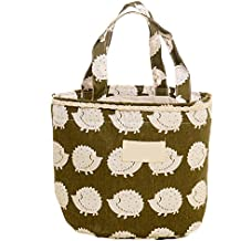 4818857511 Cratone Thermo-isolierte Lunchtasche für Damen, wasserdicht, 4 Muster  optional, Igel,