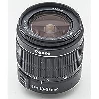 Canon EF-S 18-55mm f/3.5-5.6 III Objectif compact et léger spécialement conçu pour caméra numérique EOS avec baïonnette EF-S Qualité d'image élevée à toute distance de prise de vue Contrôle de la distorsion grâce à des lentilles asphériques AF ultra-rapide Distance de mise au point très courte Verre sans plomb