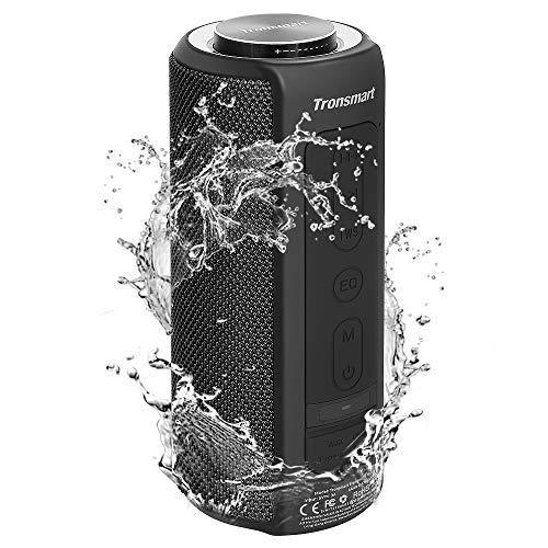 Tronsmart T6 Plus Cassa Bluetooth 40W, Altoparlante Waterproof IPX6 con Powerbank, Suono Stereo TWS a 360°, 15 Ore di Riproduzione, Effetti Tri-Bass, Speaker con Bluetooth 5.0 e Chiamata Vivavoce
