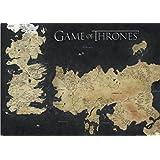 1art1 67222 Game Of Thrones - Landkarte Von Westeros Und Essos, Die Welten Von Eis Und Feuer XXL Poster 136 x 96 cm