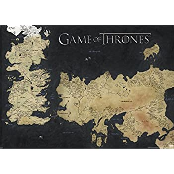 karte got XXL Game of Thrones Poster Map of Westeros and Essos The Worlds of