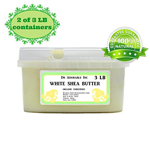 Premium High Quality Shea Butter WHITE Unrefined Raw Organic 6 lb