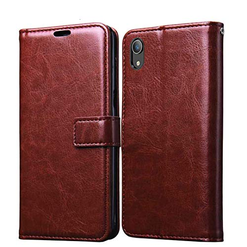 Explocart Flip Cover Case Vintage Executive Business for Vivo Y91i - Brown