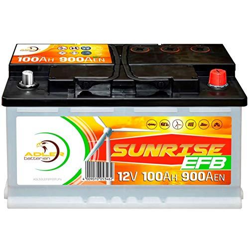 Solarbatterie 12V 100Ah Adler Batterie Wohnmobil Boot Camping ersetzt 80Ah 90Ah