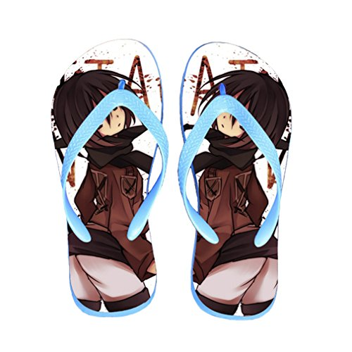 Bromeo Attack on Titan Anime Unisexe Flip Flops Tongs 194