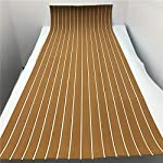 yuanjiasheng 90×240cm EVA Synthetic Boat Decking Sheet Yacht Marine Flooring Anti Slip Carpet With Backing Adhesive,Bevel Edge 16