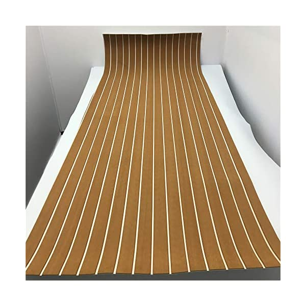 yuanjiasheng 90×240cm EVA Synthetic Boat Decking Sheet Yacht Marine Flooring Anti Slip Carpet With Backing Adhesive,Bevel Edge 7