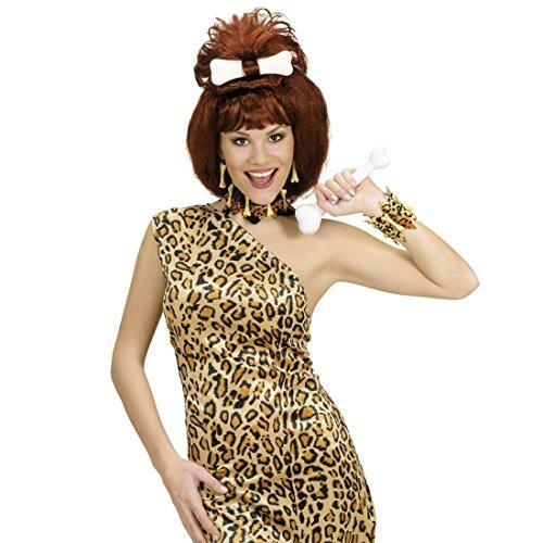 Leoparden Armschmuck Steinzeit Armkette Neandertaler Armreif Knochen Armband Karneval Kostüm Zubehör Höhlenmensch Accessoire Dschungel ()