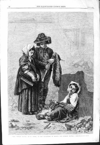 mail-pleurant-de-cercueil-de-feyen-de-musique-de-scne-de-rue-de-jeune-fille-casse-du-violon-1868