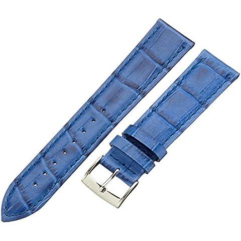 Morellato cinturino in pelle unisex BOLLE blu 20 mm A01X2269480065CR20