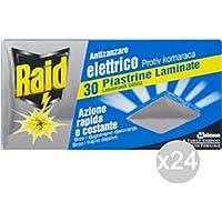 Set 24 RAID Plates X 30 Moustiques Repellent Insecticide