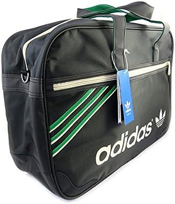 Gran fin de semana de la bolsa 'Adidas'verde negro (49x32x15 cm).