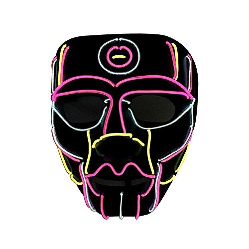Bulary Luminous Line Maske Halloween LED Maske für -