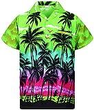 Funky Chemise Hawaienne, Beach, Vert, S