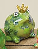Spardose Froschkönig Keramik grün H10 cm